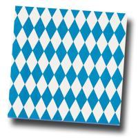 20 Oktoberfest Servietten im bayrischen Raute Design.
