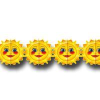 1 Girlande mit Sonnenmotiv