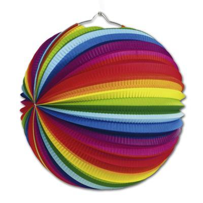 Bunte Lampions im Regenbogen Design für die farbenfrohe Partydeko.