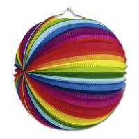 Bunte Lampions im Regenbogen Design für die farbenfrohe...