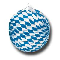 Lampion mit bayrischer Raute für die Oktoberfest Deko