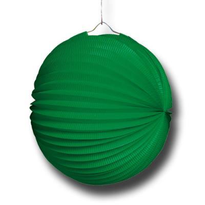 1 Lampion grün für die passende Partydekoration.