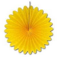 5 gelbe Deko Rosetten (Dekofächer) aus Seidenpapier und...