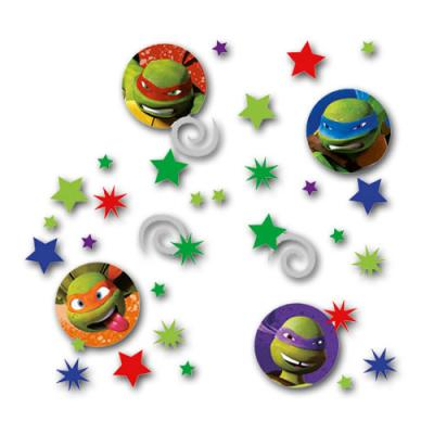 Originelles Motiv-Konfetti mit zahlreichen Teenage Mutant Ninja Turtles und Partymotiven.