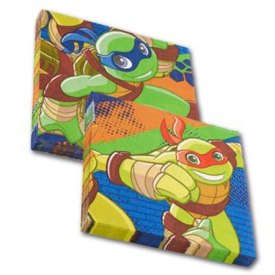 20 Motiv-Servietten mit Motiv der Teenage Mutant Ninja Turtles für einen abenteuerlichen Kindergeburtstag.