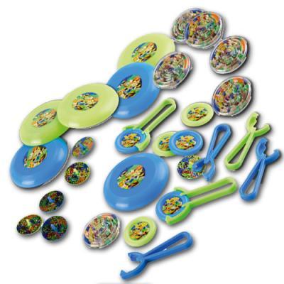 Kindergeburtstag Teenage Mutant Ninja Turtles Partyspiele Set mit diversen Minispielen für je 6 Kinder.