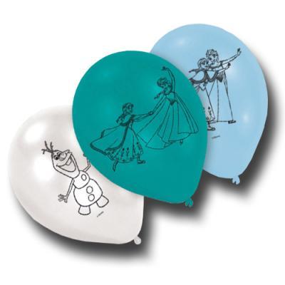 6 Luftballons mit Frozen Motiven für die Kindergeburtstag Partydeko.
