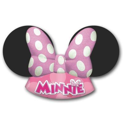 Kindergeburtstag Partyhütchen im Design der Ohren von Minnie Mouse.