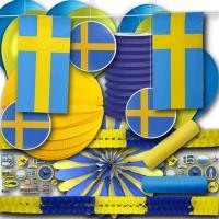 """""""Schweden"""" Partydekoset Grundausstattung"""