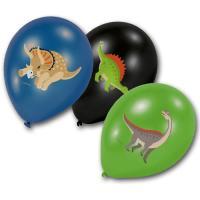6 Luftballons in schwarz, grün und blau mit verschiedenen...