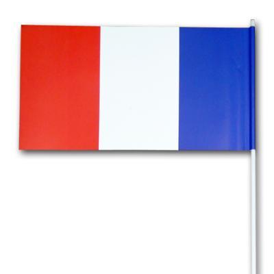 Frankreich Fähnchen am Kunststoff Stab.