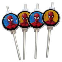6 Trinkhalme mit Spiderman Motiv für die Kindergeburtstag...