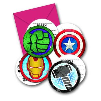 """""""Avengers"""" Kindergeburtstag Einladungskarten mit Umschlägen"""