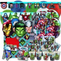 Kindergeburtstag Partyset für Partymotto Avengers mit...