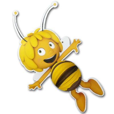 1 kleiner Lampion mit großem Biene Maja Motiv.