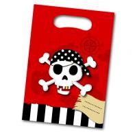 Kunststoff Partytaschen mit Piraten Motiven und...