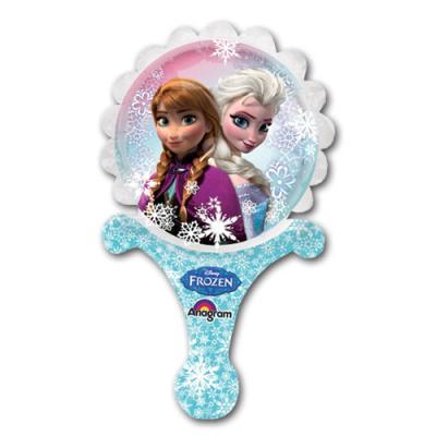 Folienballon mit Anna und Elsa Motiv für die Frozen Kindergeburtstag Mottoparty.