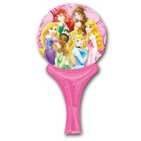 Rosa Motivluftballon mit 6 Disney Prinzessinnen und...