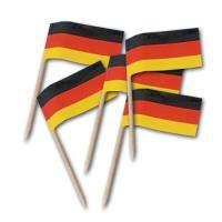 200 Stück Flaggenpicker Deutschland am Holz Zahnstocher.