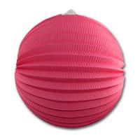 1 runder Papierlampion in der Farbe rosa/pink.