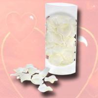Streudeko Rosenblüten weiß