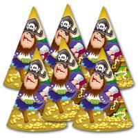 6 Partyhütchen für den Kindergeburtstag Pirat zum...