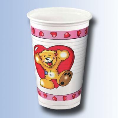 Kindergeburtstag Trinkbecher Teddy in Love