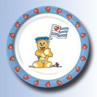 Kindergeburtstag Pappteller Teddy Bär Ahoi.