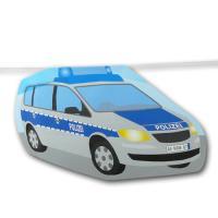1 Motivgirlande mit Polizeikellen, Polizeiauto und...