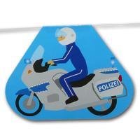 Kindergeburtstag Motivgirlande Polizei Motorrad Motiv.