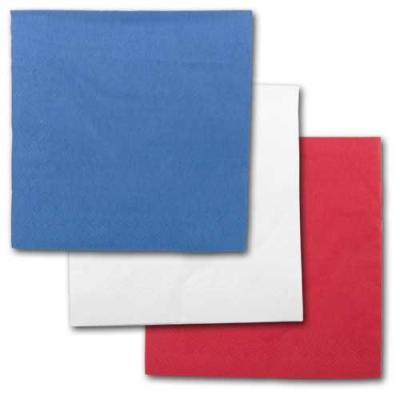 Blaue, weiße und rote Papierservietten im Sparset.