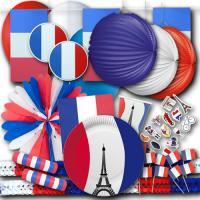 Großes Frankreich Partyset mit Partydeko und...