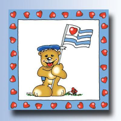Kindergeburtstag Servietten Teddy Bär Ahoi.