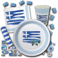 Griechenland Partygeschirrset im Design der Griechenland...