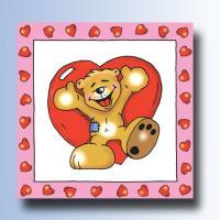 Kindergeburtstag Servietten Teddy Bär in Love.