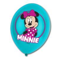 6 türkise Luftballons mit Minnie Mouse Motiv für die...