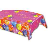 Geburtstagsdeko Tischtuch aus Kunststoff mit bunten...