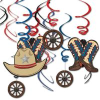 Dekospiralen mit Wilder Westen & Cowboys Motiven (Cowboy...