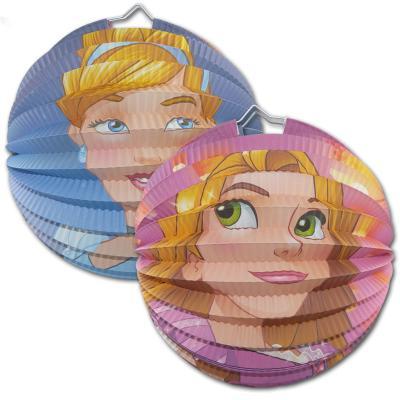 """1 Geburtstagsdeko """"Prinzessin"""" Lampion mit Cinderella und Rapunzel Motiv, als Partydeko für einen märchenhaften Mädchen Kindergeburtstag."""