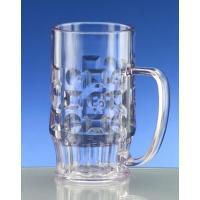 bruchsicherer Kunststoff Bierkrug 0,3 l in Glasoptik.