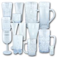 Hochwertige Kunststoffgläser in Glasoptik.