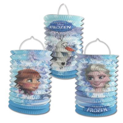 """1 Geburtstagsdeko Zuglaterne """"Frozen"""" mit Olaf oder Anna & Elsa Motiv zur Auswahl."""