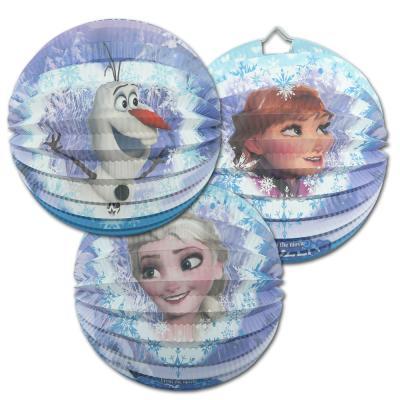 """1 Geburtstagsdeko Lampion """"Frozen"""" mit Olaf oder Anna & Elsa Motiv zur Auswahl."""