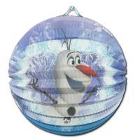 """1 Lampion mit Olaf Motiv für die Kindergeburtstag Mottoparty """"Frozen""""."""