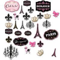 30 Stück unterschiedliche Frankreich Dekomotive in den...