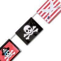 Kindergeburtstag Pirat Wimpelgirlande aus Kunststoff mit...