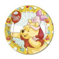 Bunte Pappteller mit ca. 19,5 cm Durchmesser mit Winnie...