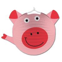 1 rosa Lampion im Schwein Design, passend für den...