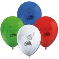 8 blaue, grüne, weiße und rote Kindergeburtstag...