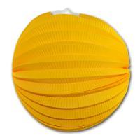 1 Lampion gelb aus schwer entflammbarem Papier, Karton...